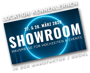 Showroom by Metz Catering – Banner 2020 Hochzeitsmesse + Eventlocations Köln Bonn